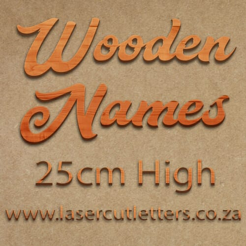 Wooden Letters and Names 25cm