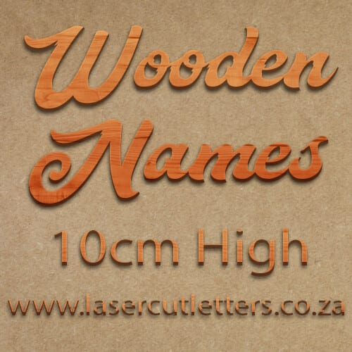 Wooden Letters and Names 10cm